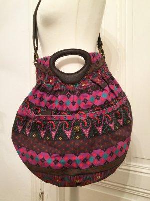 Große Handtasche / Umhängetasche mit buntem Muster NEU
