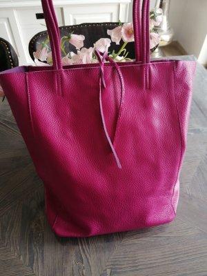 Große Ledertasche Feines Nappa Leder Shopperbag