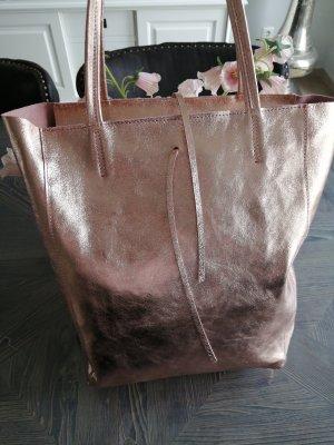 Genuine Leather Shopper or rose