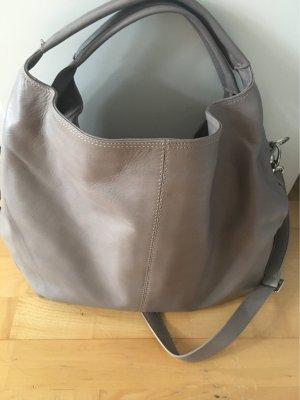 Genuine Leather Shopper grijs-bruin Leer