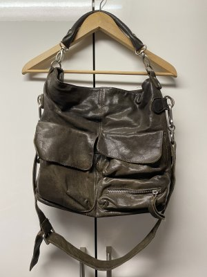 Große Liebeskind Tasche Leder dunkelbraun