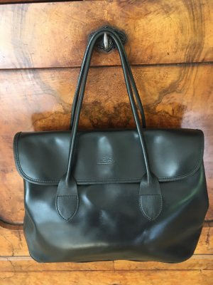 Grosse Longchamp schwarze Ledertasche