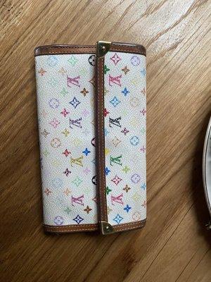 Große Louis Vuitton Monogramm Multicolor Geldbörse Geldbeutel Portmonee weiß bunt Leder