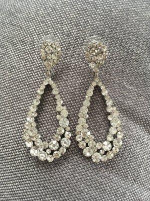 Große Ohrringe mit Strass Steinen