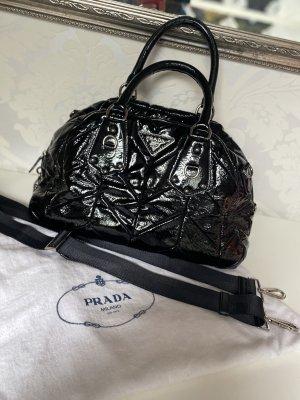Große Original Prada Lack Tasche Handtasche Shopper schwarz