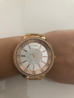 Große rosegoldene Uhr