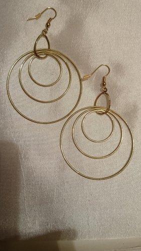 Große runde Goldfarbe Ohrringe Ohrhacken