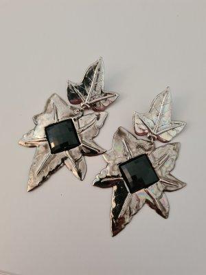 Vintage Oorclips zwart-zilver