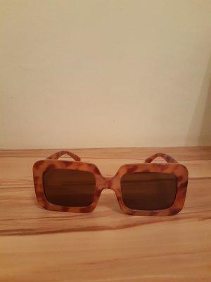 Mango Gafas de sol cuadradas marrón claro-coñac