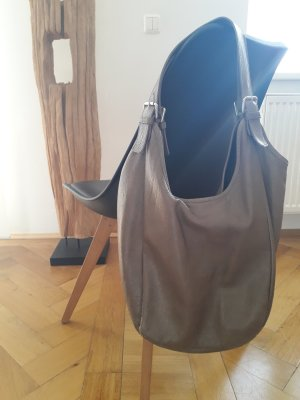 Borse in Pelle Italy Sac hobo gris anthracite-gris brun cuir