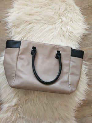 Große Tasche von H&m beige/schwarz