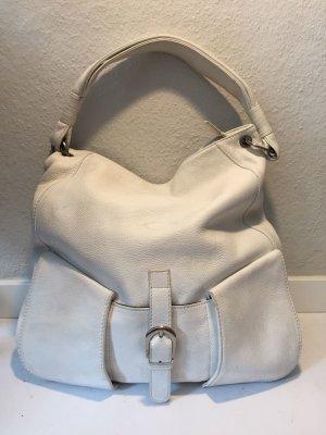 Große Tod´s Handtasche Hobo aus weißem Leder