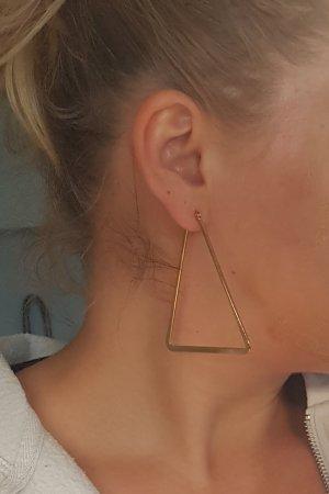 Große Triangel-Creolen (Goldfarben)