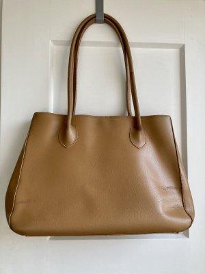 Große Vintage-Tasche in Cognacbraun