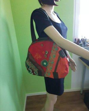 Große XXL Desigual Damen Tasche Handtasche Schultertasche Patchwork, viel Platz