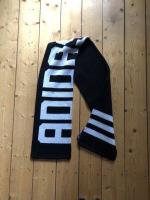 Adidas Originals Sciarpa lavorata a maglia nero-bianco Tessuto misto