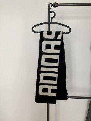 Adidas Bufanda de punto negro-blanco tejido mezclado
