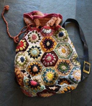 Großer Beutel mit Granny squares - neu Hippie Goa