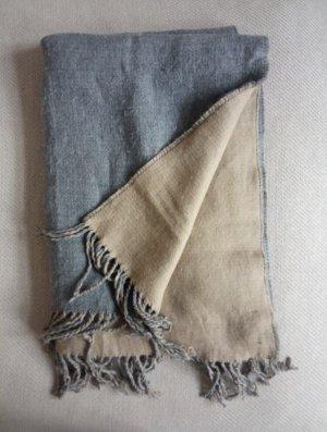 Review Bufanda de lana gris-beige