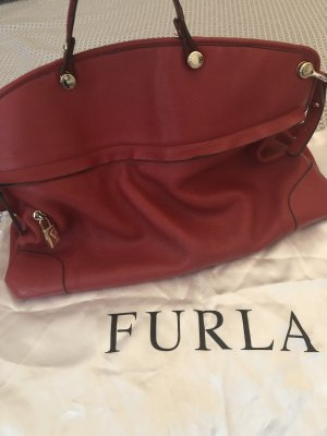 Furla Shoulder Bag red leather
