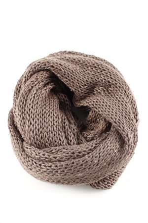 Stefanel Knitted Scarf bronze-colored