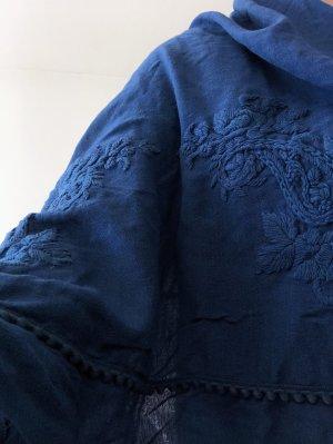 Massimo Dutti Summer Scarf cornflower blue wool