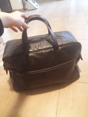 Tchibo / TCM Bowling Bag taupe leather