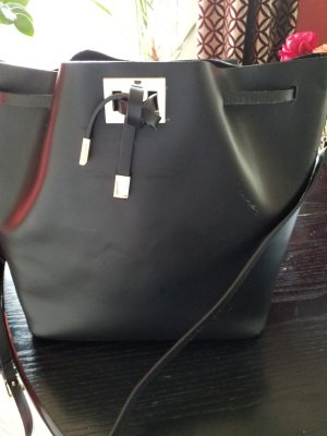 Genuine Leather Bolso tipo marsupio negro