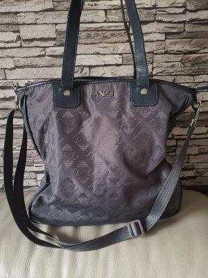 Grosser Original Armani Shopper Tasche grau geräumig viel Platz