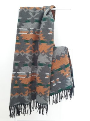 Even & Odd Fringed Scarf multicolored