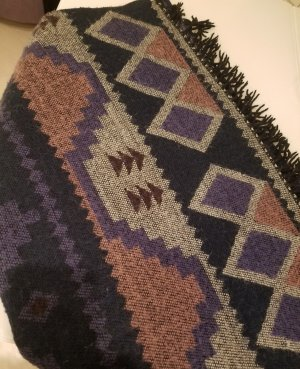 Pieces Knitted Scarf multicolored