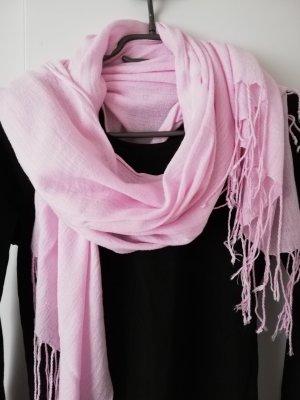 Unbekannte Marke Bufanda de flecos rosa claro