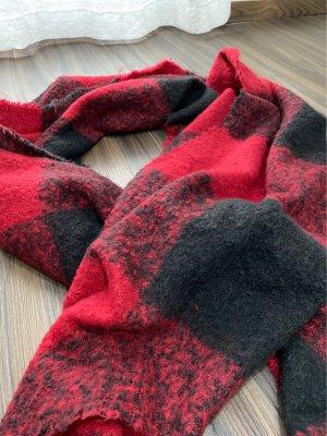 Abercrombie & Fitch Écharpe en laine noir-rouge foncé