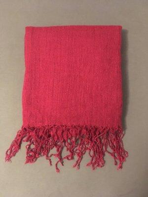 H&M Bufanda de flecos rojo frambuesa