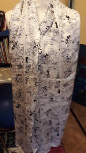 Plomo o plata Bufanda de seda blanco-negro Seda