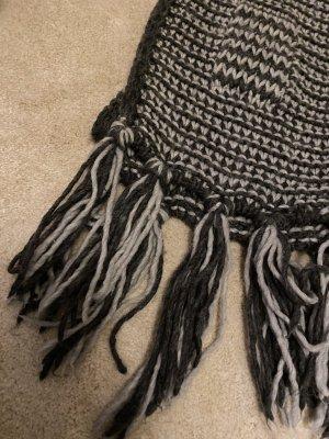 C&A Knitted Scarf grey-dark grey