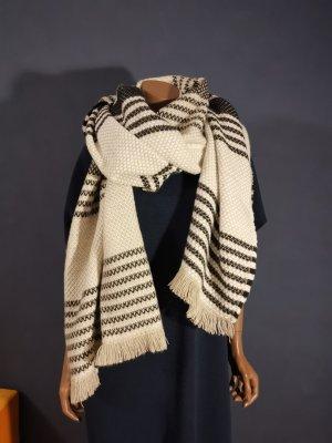 Esprit Écharpe en tricot noir-crème