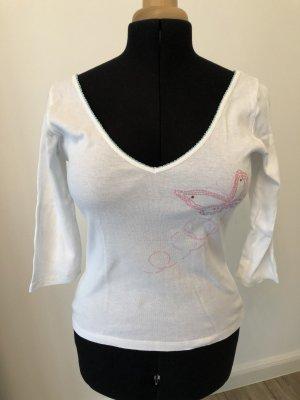 Kookai T-shirt col en V multicolore coton