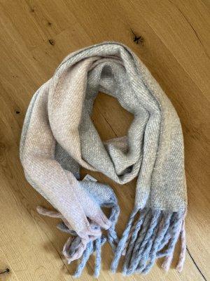 someday Bufanda de lana gris claro-rosa
