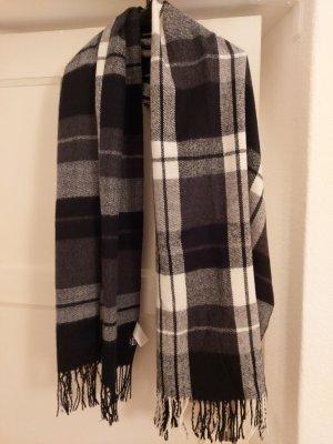 Vero Moda Écharpe en laine blanc-noir