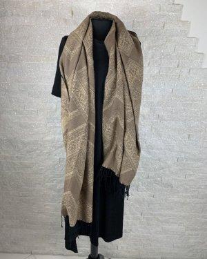 keine Sciarpa di lana beige-marrone chiaro