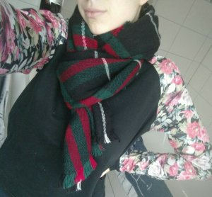 Atmosphere Écharpe en tricot multicolore tissu mixte