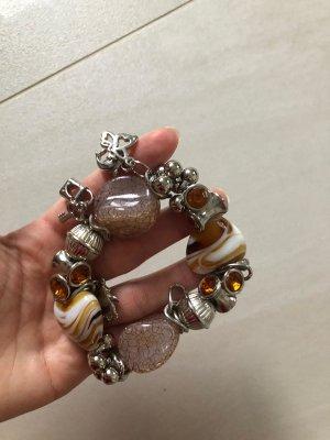 Charm Bracelet light grey-beige mixture fibre