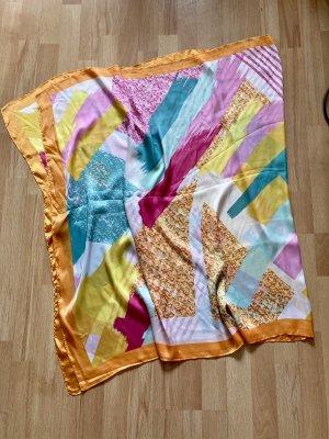 Vintage Sciarpa di seta multicolore