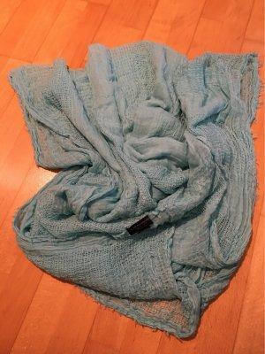 Zara Châle au tricot turquoise