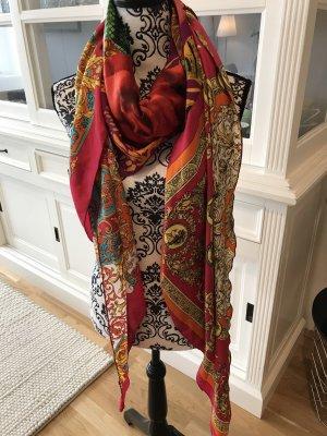 Châle au tricot multicolore
