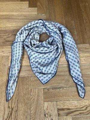 Bottega Veneta Fazzoletto da collo grigio chiaro-blu fiordaliso Lana