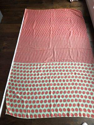 Großes Tuch in mintgrün & lachsfarben - gebraucht