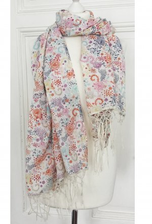 Großes Tuch / Schal mit buntem Blumenmuster und Ranken von L.O.G.G.