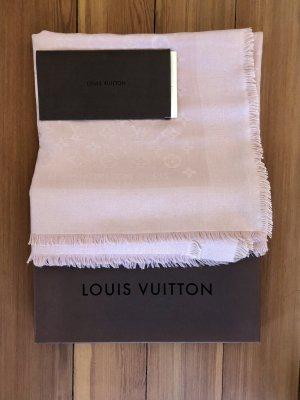 Louis Vuitton Châle au tricot rosé laine